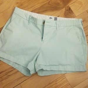 Mint green old navy shorts size 6
